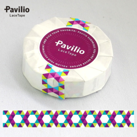 Pavilio Lace Washi Tape - Hexagon Groen
