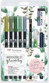 Tombow Watercoloring Set - Greenery - Set van 11