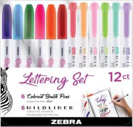 Zebra Handlettering Set