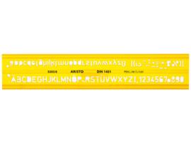 Lettersjabloon Aristo 6mm H-profiel Schriftvorm B Recht | # AR-5306/6