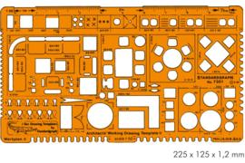 Architect  Combinatie  Sjabloon 1:50    # 7301