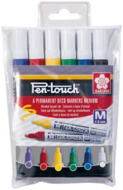 Sakura Pen-Touch Permanent Marker - Medium - Set van 6