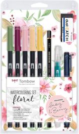 Tombow Watercoloring Set - Floral - Set van 11