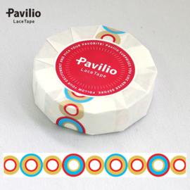 Pavilio Lace Washi Tape - Bubble  Red