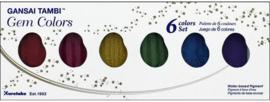 Kuretake Gansai Tambi Water Colors - Gem Colors   - Set met 6 Napjes