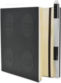 LEGO® 2.0 Locking Notebook kleur Zwart   met een  LEGO®  Gel Pen