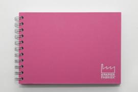 A5 Tekenblok / Schetsboek 70 Vel 120g/m² Blanco Wit Papier. Omslag Roze