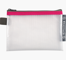 Transparante Zipperbags ft A6 | Rood