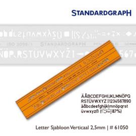 Letter Sjabloon Verticaal 2,5mm   # 61050