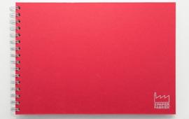 A4 Teken & Schetsboek  70 Vel 120g/m² Blanco Wit Papier. Omslag Rood