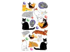 Purple Peach Sticker Cats