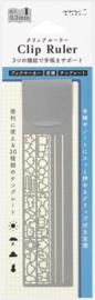 Midori Aluminium Clip Ruler
