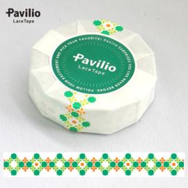 Pavilio Lace Washi Tape - Stich Green