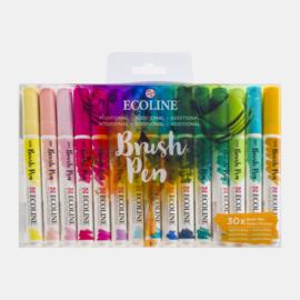Set van 30 Ecoline Brushpennen