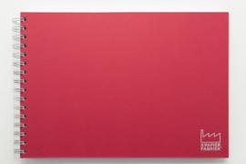 A3 Teken & Schetsboek 70 Vel 120g/m² Blanco Wit  Papier. Omslag Rood