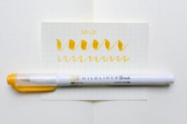 Zebra Mildliner Brush Pen - Mild Gold