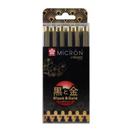 Pigma Black & Gold Edition Set 6