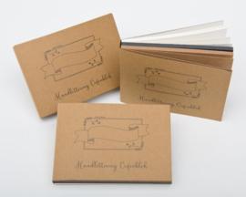 Oefenblok Handlettering  formaat A6 = 105 x 148mm