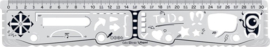 Multifunctionele  Liniaal en  Stencil 30cm