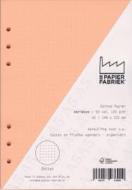 Aanvulling A5 geschikt voor o.a. Filofax, Succes Losbladige Planners 50 Vel, 120gr/m² Dotted Abrikoos Papier
