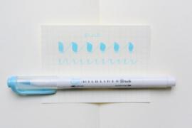 Zebra Mildliner Brush Pen - Mild Blue
