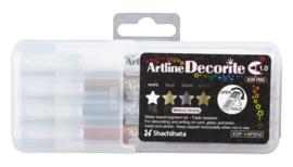 Artline  Decorite Metal Markers Set van 4
