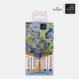 Talens Ecoline Brush Pen - van Gogh  - Set van 5 verpakt in een Handige A6 Zipperbag