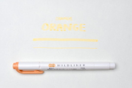 Zebra Mildliner Double-Sided Highlighter - Fine / Bold - Mild Orange