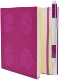 LEGO® 2.0 Locking Notebook kleur Violet met een LEGO® Gel  Pen