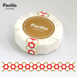 Pavilio Lace Washi Tape - Red / Brown