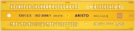 Lettersjabloon Aristo 2,5mm H-profiel Schriftvorm B Recht | # AR-5301/2,5