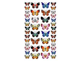 Purple Peach Sticker Butterflys