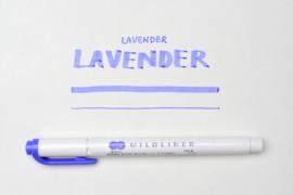 Zebra Mildliner Double-Sided Highlighter - Fine / Bold – Mild Lavender