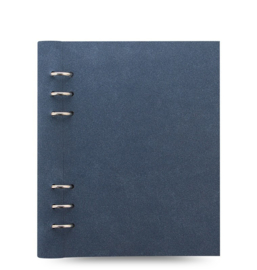 Filofax Clipbook A5   Architexture Blue Suede  + Extra 50 vel Wit Dotted Papier