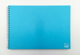 A3 Teken & Schetsboek 70 Vel 120g/m² Blanco Wit  Papier. OmslagLicht Blauw