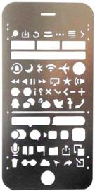 Bullet Journal Stencil van Roest Vrij Staal | Model: Iphone 6S Plus