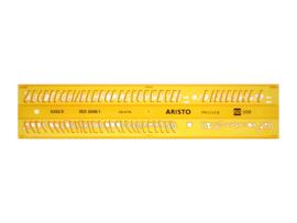 Lettersjabloon  Aristo 5mm H-profiel Schriftvorm B Cursief | # AR-5302/5