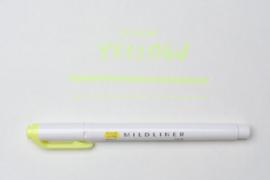Zebra Mildliner Double-Sided Highlighter - Fine / Bold - Mild Yellow