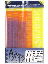 Lettersjablonen  Set  van 4 (5, 10, 20 & 30mm)