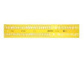 Lettersjabloon Aristo 7mm H-profiel Schriftvorm B Cursief | # AR-5302/7