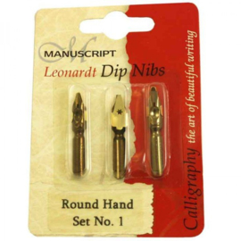 Manuscript Leonardt Dip Nips Round Hand  Set # 1