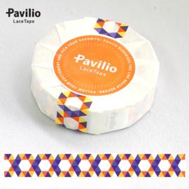 Pavilio Lace Washi Tape - Hexagon Oranje