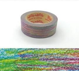 "Rink Washi Tape  - Watercolored Design - ""Crayon Rainbow"""