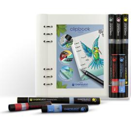 Filofax Clipbook Planner  A5 Classic Monochrome Wit  + Chameleon Pennen