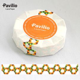 Pavilio Lace Washi Tape - Honeycomb Oranje