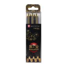 Pigma Black & Gold Edition Sets