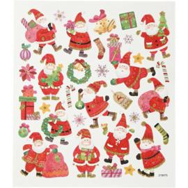 Stickervel Kerst No. 3 -Happy Santa Claus