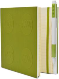 LEGO® 2.0 Locking Notebook kleur Lime met een LEGO® Gel Pen