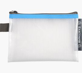 Transparante Zipperbags ft A6 | Blauw