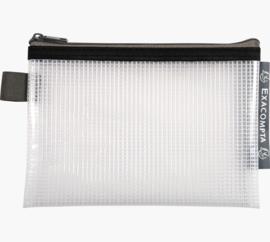 Transparante Zipperbags ft A6 | Zwart